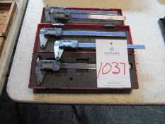 "(5) 8"" Mitutoyo Digital Calipers"