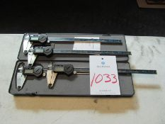 "(4) Brown & Sharp TWN 12"" Digital Calipers"