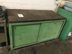 """Wood Top Work Bench, 60"""" x 28"""" Work Bench with Misc. Content (Loc. Parts Room)"""