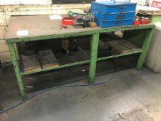 "71"" x 36"" x 1/2"" Steel Table (Loc. Machine Shop)"
