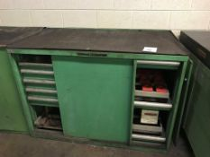 """Wood Top Work Bench, 56"""" x 31"""" Work Bench with Taper Tool Holder Drawers and 6-Drawer Cabinet, Misc."""