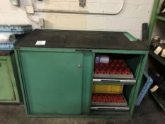 """Work Bench, 56"""" x 31"""" Work Bench with Taper Tool Holder Drawers and 6-Drawer Cabinet, Misc."""