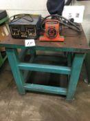 "Bonal Technologies Meta-Lax Stress Relief Table, 36"" x 36"" x 2"" Steel Layout Table (Loc. Parts"