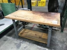 """30"""" x 60"""" Wood Top Table"""