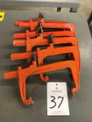 """(6) Carver 12"""" Bar Clamps"""