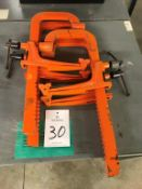 """(4) Carver 18"""" Bar Clamps"""