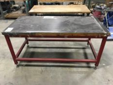 """32"""" x 72"""" Wood Top Table"""