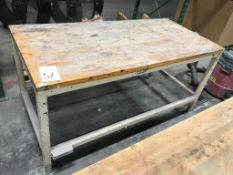 """30"""" x 70"""" Wood Top Table"""
