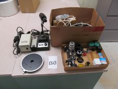 Lot of Assorted Microscope Accessories