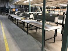 (6) Work Tables with Shelf