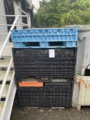 Lot of (9) Collapsible Plastic Totes