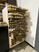 "Lot of (2) 3-1/8"" Diameter Tube Storage Cabinet"