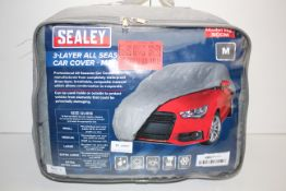 BAGGED SEALEY 3-LAYER ALL SEASONS CAR COVER MEDIUM MODEL NO. SCCM RRP £54.50Condition