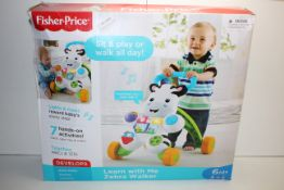 BOXED FISHER PRICE LEARN WITH ME ZEBRA WALKER RRP £28.99Condition ReportAppraisal Available on