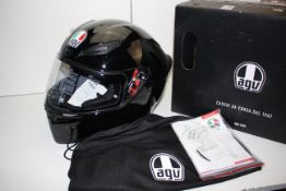 BOXED AGV E2205 SOLID MOTORCYCLE HELMET SIZE ML RRP £129.13Condition ReportAppraisal Available on