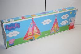 BOXED PEPPA PIG TEPEE WITH INTERGRATED FLOOR RRP £25.00Condition ReportAppraisal Available on