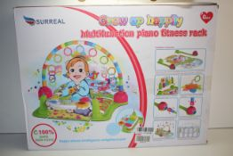 BOXED SURREAL GROW UP HAPPILY MULTIFUNCTION PIANO FITNESS RACK RRP £34.99Condition ReportAppraisal