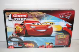 BOXED DISNEY PIXAR CARS CARRERA FIRST RACE TRACK RRP £49.99Condition ReportAppraisal Available on