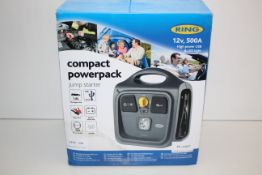 BOXED RING COMPACT POWERPACK JUMP STARTER 12V 500A RRP £79.99Condition ReportAppraisal Available