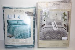 2X BAGGED DUVET SETS BY SLEEPDOWN & LINENZONE BOTH SUPERKING SIZE COMBINED RRP £76.00Condition