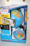 BOXED CLEMONTONI EXPLORE THE WORLD INTERACTIVE GLOBE RRP £60.00Condition ReportAppraisal Available