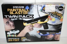 2X BOXED STRYKER PAINTBALL BLASTERS COMBINED RRP £52.00Condition ReportAppraisal Available on