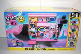 BOXED LOL SURPRISE O.M.G OUTRAGEOUS MILLENIAL GIRLS RE MIX 4-IN-1 PLANE RRP £67.99Condition