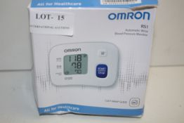 BOXED OMRON RS1 AUTOMATIC WRIST BLOOD PRESSURE MONITOR RRP £29.99Condition ReportAppraisal Available