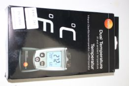 BOXED TESTO DUAL TEMPERATURE IR AND AMBIANT TEMPERATURE RRP £104.40Condition ReportAppraisal