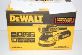 BOXED DEWALT DWE6423 110V ORBITAL SANDER RRP £164.00Condition ReportAppraisal Available on
