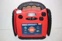 UNBOXED SEALEY 12V ROADSTART EMERGENCY POWER PACK 900 PEAK AMPS WITH AIR COMPRESSOR MODEL NO.