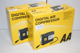 2X BOXED AA DIGITAL AIR COMPRESSOR MODEL: AA5502 RRP £50.00Condition ReportAppraisal Available on