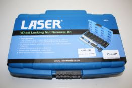BOXED LASER WHEEL LOCKING NUT REMOVAL KIT 6972 RRP £59.89Condition ReportAppraisal Available on