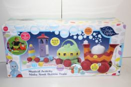BOXED MUSICAL ACTIVITY NINKY NONKY BUBBLE TRAIN RRP £69.99Condition ReportAppraisal Available on