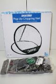 2X ASSORTED ITEMS TO INCLUDE LONGRIDGE POP CHIPPING NET & OTHER Condition ReportAppraisal