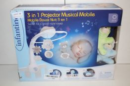 BOXED INFANTINO 3-IN-1 PROJECTOR MUSICAL MOBILE RRP £44.99