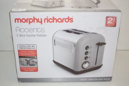 BOXED MORPHY RICHARDS ACCENTS 2 SLICE TOASTER PEBBLE RRP £29.00