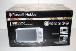 BOXED RUSSELL HOBBS SILVER MANUAL MICROWAVE RRP £71.98