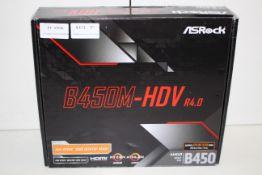 BOXED ASROCK B450M-HDV R4.0 MOTHERBOARD RRP £54.95