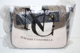 BAGGED FACTORY SEALED NAOMI CAMPBELL LEATHER HANDB