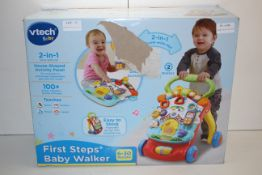 BOXED VTECH BABY FIRST STEPS BABY WALKER 6-30MTHS