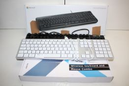 4X ASSORTED BOXED/UNBOXED KEYBOARDS (IMAGE DEPICTS