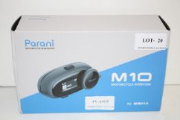 BOXED PARANI MOTORCYCLE BLUETOOTH M10 BY SENA RRP £66.33Condition ReportAppraisal Available on
