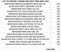 TOTAL RRP-£396.00 1 LOT TO CONTAIN 17 BRAND NEW NEXT ITEMS WITH TAGS SEE IMAGE (1006)Condition