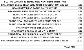 TOTAL RRP-£332.00 1 LOT TO CONTAIN 12 BRAND NEW NEXT ITEMS WITH TAGS SEE IMAGE (1007)Condition