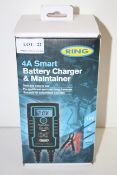 BOXED RING 4A SMART BATTERY CHARGER & MAINTAINER 12V RRP £44.99Condition ReportAppraisal Available