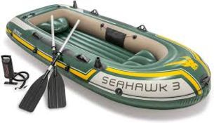 BOXED INTEX SEAHAWK 3 INFLATEABLE BOAT SET RRP £135.00Condition ReportAppraisal Available on