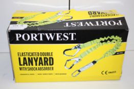 BOXED PORTWEST ELASTICATED DOUBLE LANYARD WITH SHOCK ABSORBER FP52 RRP £19.94Condition