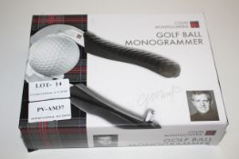 BOXED COLIN MONTGOMERIE GOLF BALL MONOGRAMMERCondition ReportAppraisal Available on Request- All