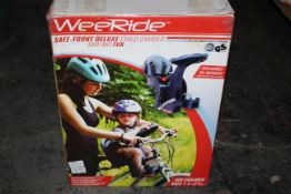 BOXED WEERIDE SAFE-FRONT DELUXE CHILD CARRIER FOR CHILDREN 1-4YRSCondition ReportAppraisal Available